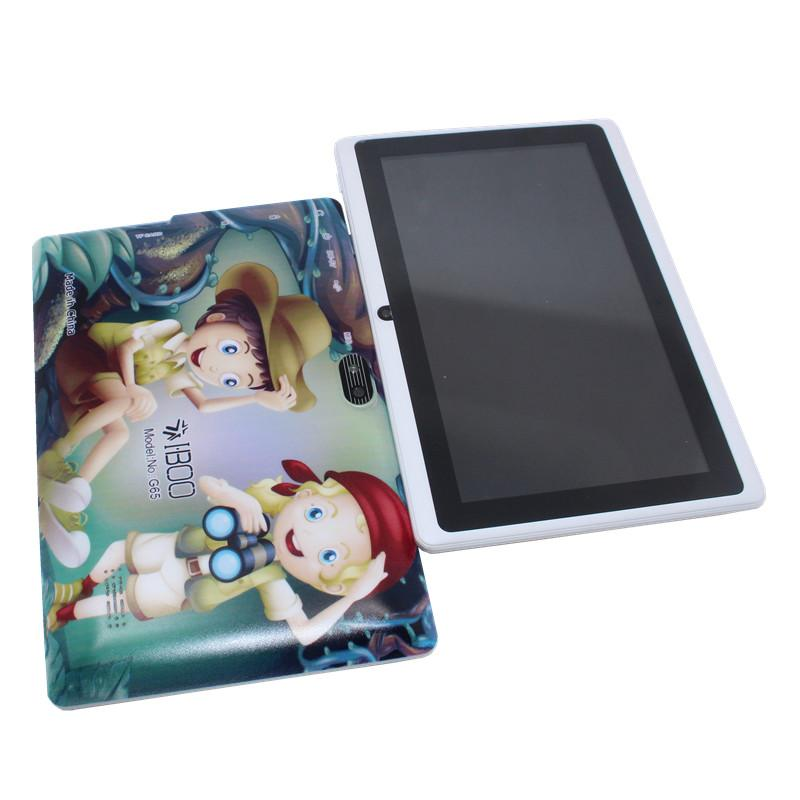1GB +8GB Android 4.4 7 inch quad core Allwinner A33 sensor white tablet pc Dual Camera WIFI 1024 x 600 2800mAh