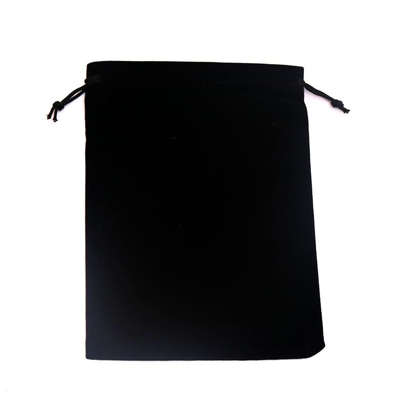grande taille noir velours cordon velours sacs de poche sacs de noël valentines velours cadeau sacs sacs de bijoux de mariage