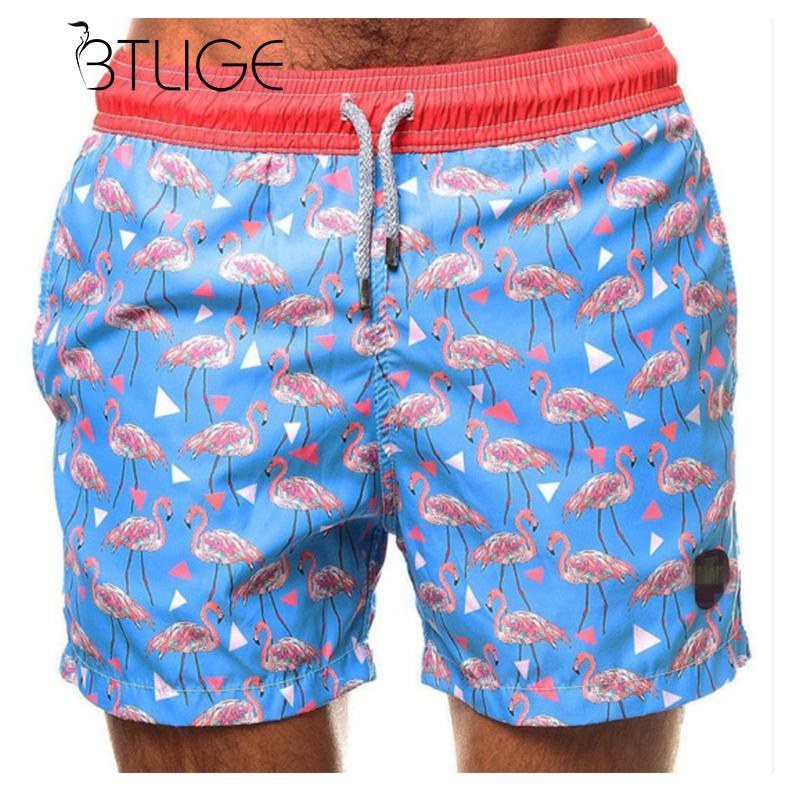 e863fbbfd1 2019 BTLIGE Plus Size Mens Surf Shorts Men Flamingo Printed Swim Trunks Man  Swimwear Bottoms 2018 Summer Blue Swimming Boxer Briefs From  Qualityclothes, ...