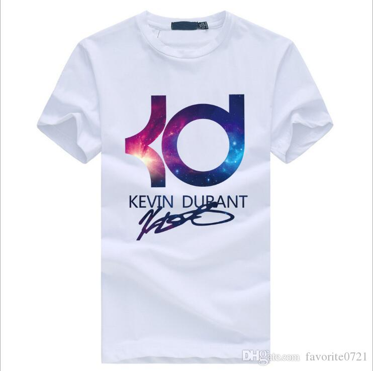 Wholesale summer KD short sleeved cotton T-shirt men brand Basketball Hip hop Casual O-Neck Male Tops & Tees