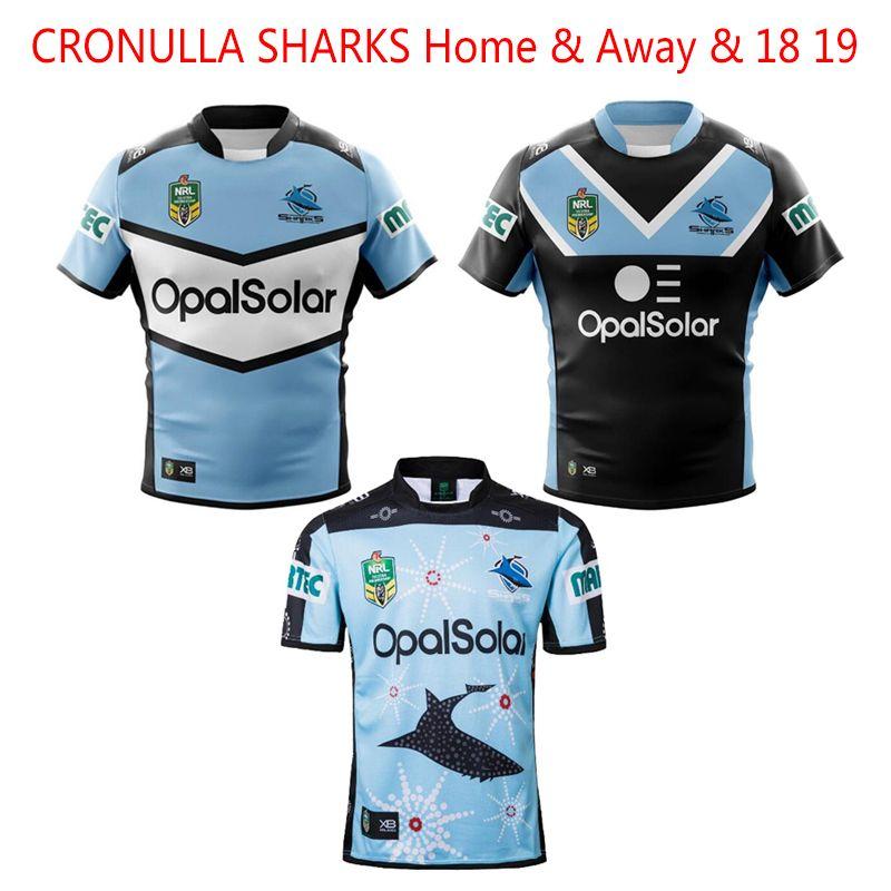 1d05c1f148d Hot Sale 2018 CRONULLA SHARKS Rugby Jerseys Home Away ALTERNATE NRL ...