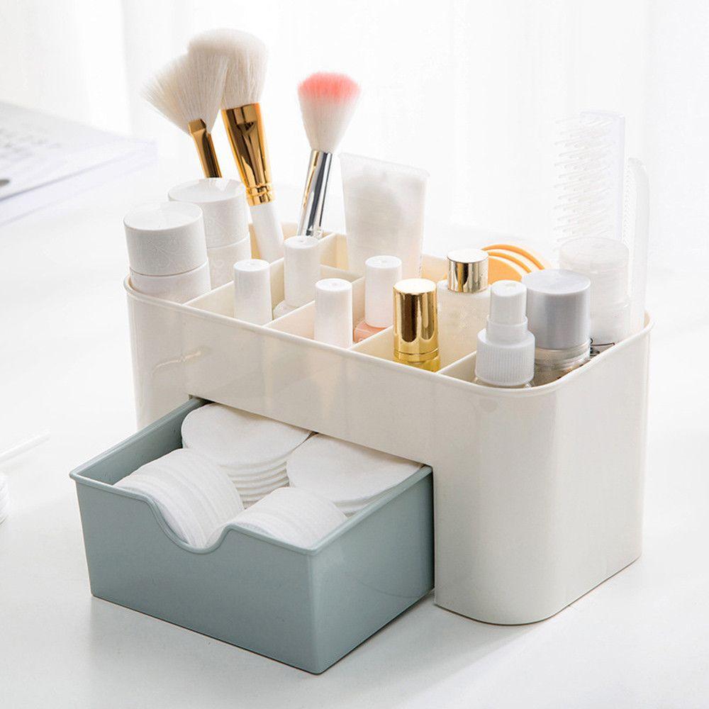 Saving Space Desktop Makeup Storage Drawer Type Box Organizer Make Up Drawers With 16 0 Piece