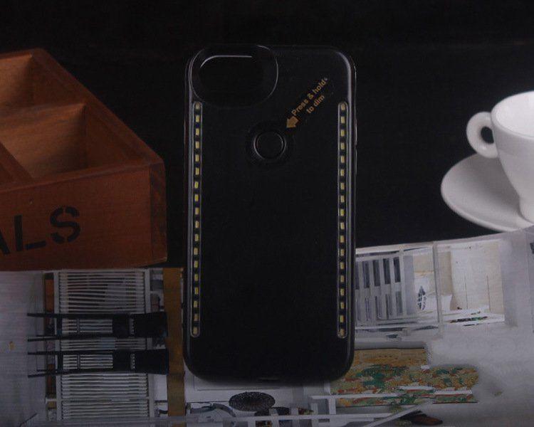 LED Light Mobile phone Cases Fashion Case Double Sides Light Selfie Case For IphoneX iphone 8 7 6 6s plus Samsung S8