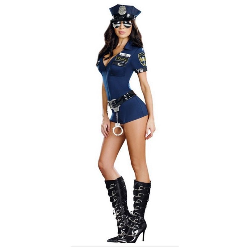 Compre Disfraces De Halloween Para Mujer Vestido De Traje De Cosplay De  Policía Sexy Disfraz De Mujer Policía Traje De Baile A  27.38 Del Keviny  2d741792588