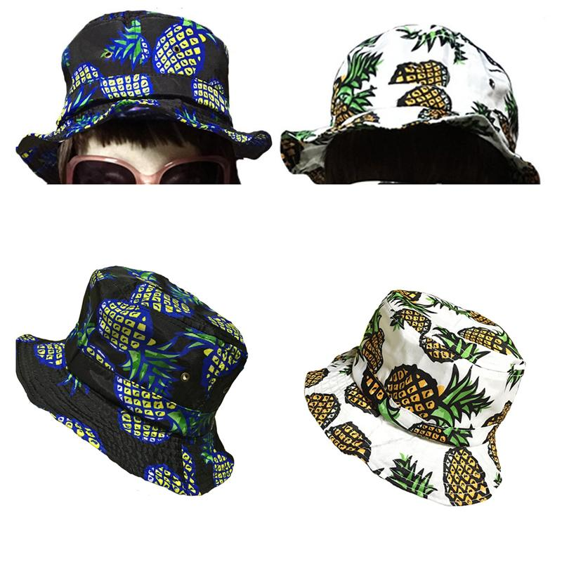 Pineapple Bucket Hat Cotton Material Lovely Fruit Cap For Beach Holiday  Climbing Fishing Outdoors Travel Knit Hats Bailey Hats From Rainbowwo 50d9a22bc25