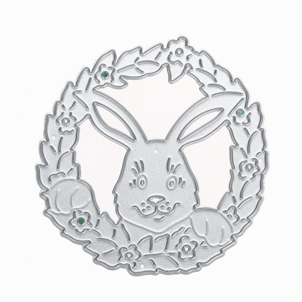 Flower Rabbit Cutting Dies Metal Embossing Folder Stencil for DIY Scrapbooking Photo Album Decoration Paper Card Craft