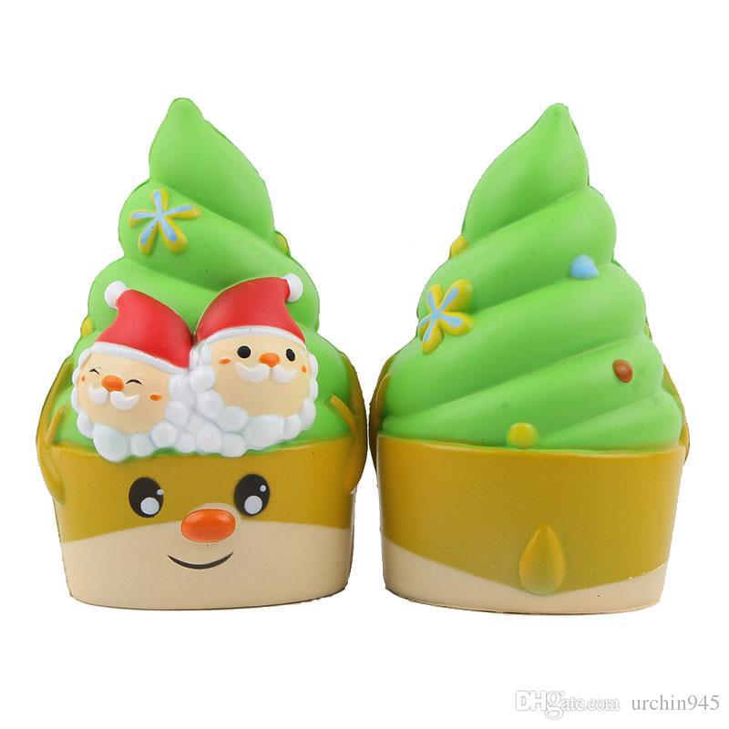 Jumbo Squishies Emoji Ice Cream Super Soft Slow Rising Squeeze Toy
