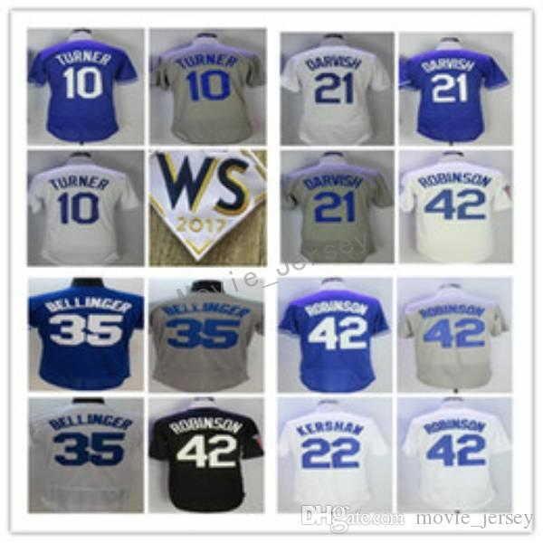 2544f2a1c ... best price online cheap 2017 2018 ws patch 22 clayton kershaw 35 cody  bellinger 21 yu