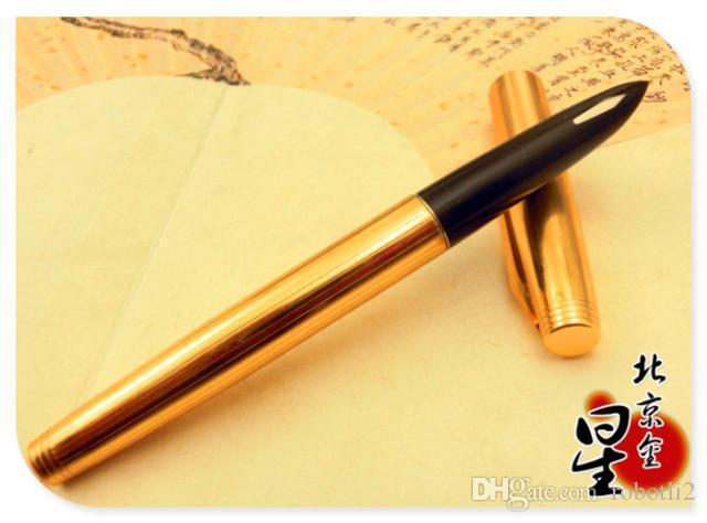 Oro Star703 pluma, nibs de iridio de trefilado de aluminio