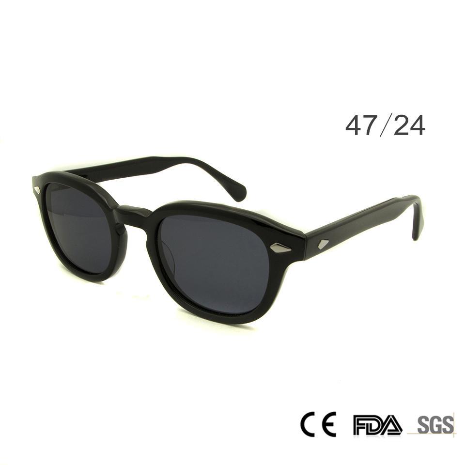 5b147a30ee1cc Compre Retro Vintage Sunglasses Moda Masculina Rodada Shapes Johnny Depp  Rivet Óculos De Sol Para Homens Marca Designer Óculos UV400 Óculos De  Proteção De ...