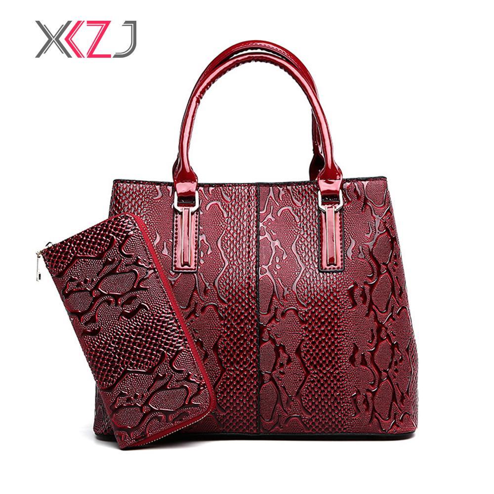 2f8471440b Fashion PU Leather Women Bag Ladies Luxury Snake Shoulder Bags Designer  Handbags High Quality 2018 Spring Ladies Tote Bag Cute Bags Purses For Women  From ...