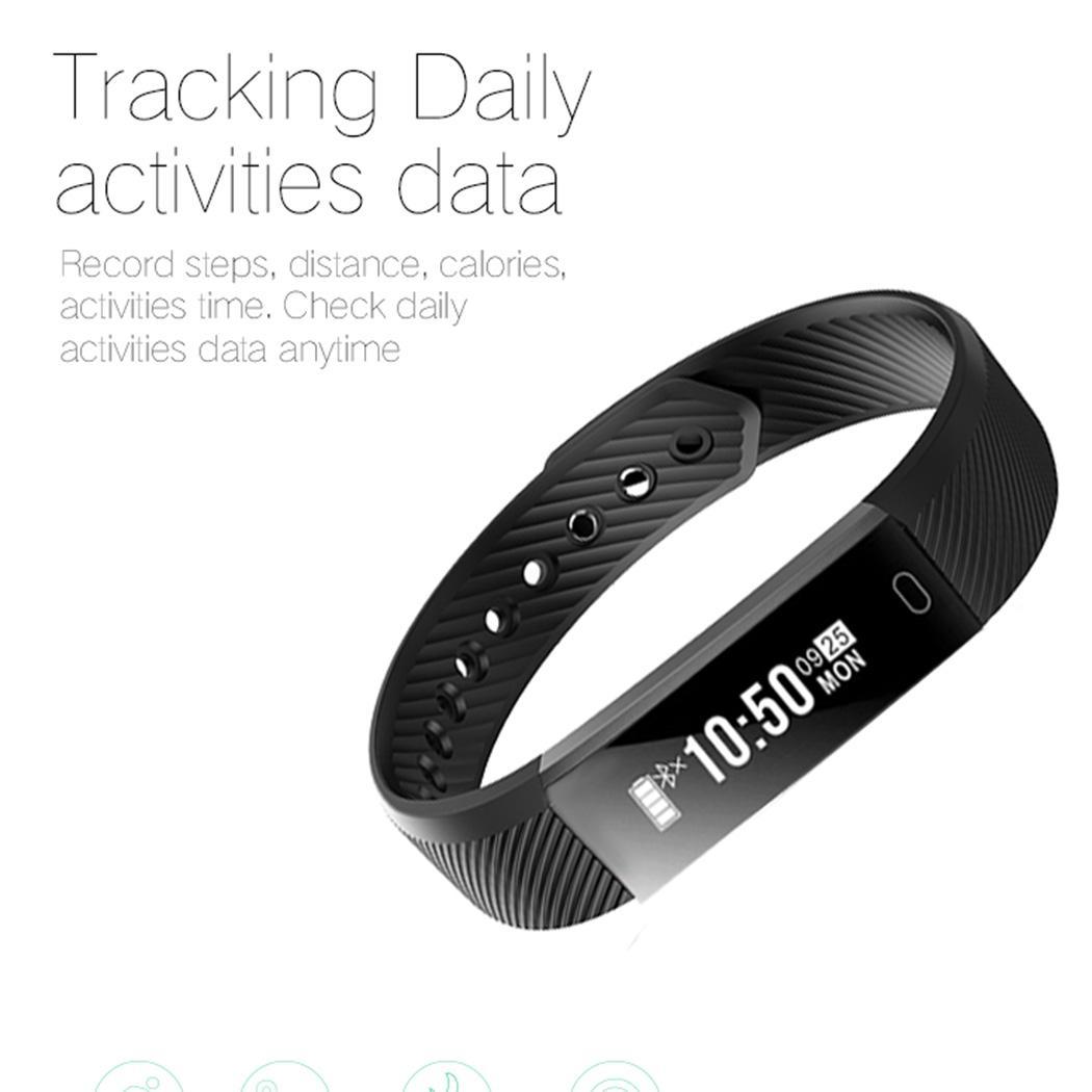 Schrittzähler Neue Fitness Uhr Tracker Laufen Schritt Kalorien Zähler Smart Armband Aktivität Monitor Band Wecker Vibration Armband