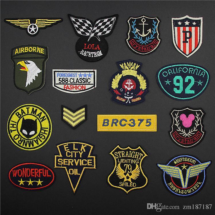 Compre Super Qualidade Moda Patches Militares Emblema Combinação Bordado  Ferro Em Patches Conjuntos Emblemas Bordados Costurar Ferro Na Roupa  Remendo Motorc ... c9b14e25840