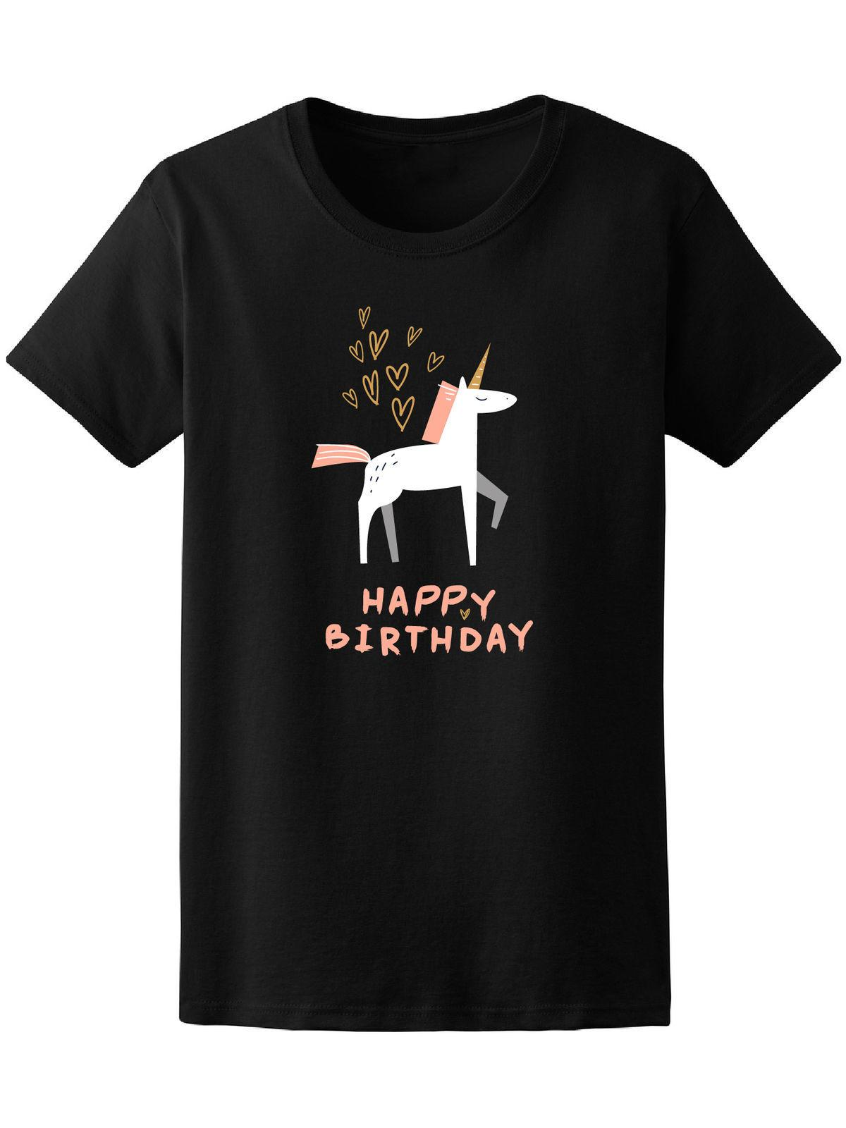 Happy Birthday Unicorn Hearts Tee Image By Shutterstock Novelty Cool Tops Men Short Sleeve Tshirt Canada 2019 From Carenthusiast CAD 1337