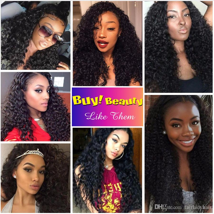 3 Bundles with Lace Closure Curly Brazilian Virgin Hair Bundles Brazilian Curly Weave Hair Human Hair Bundles with Lace Closure Free Part