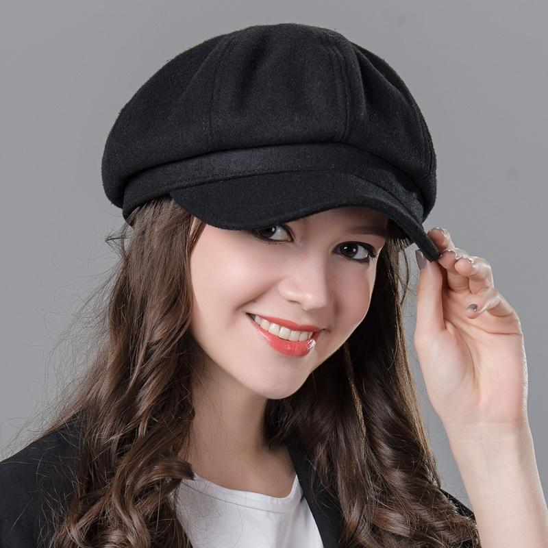 4b8ec477e82 NIBESSER Vintage Fashion Wool Women S Octagonal Cap Laday Girl Newsboy  Virsor Hat Cap Painter Beret Hat Winter Hats For Women Red Beanie Hats For  Sale From ...