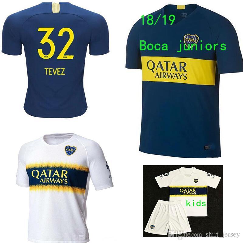 Traje Adulto 2018 2019 Juniors Camisetas De Fútbol GAGO CARLITOS HOME AWAY  Camisetas De Camiseta De Fútbol Boca Juvenil Junior 18 19 Camisetas De  Futbol ... 48c02a3ef2f79