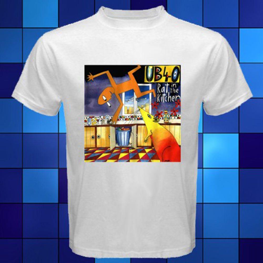 d3988b585b Anime Print Tee New UB40 Rat In The Kitchen Pop Reggae Band White T Shirt  Size S M L XL 2XL 3XL Print Summer Tops Tees Awesome Tee Shirt Designs T  Shirts ...