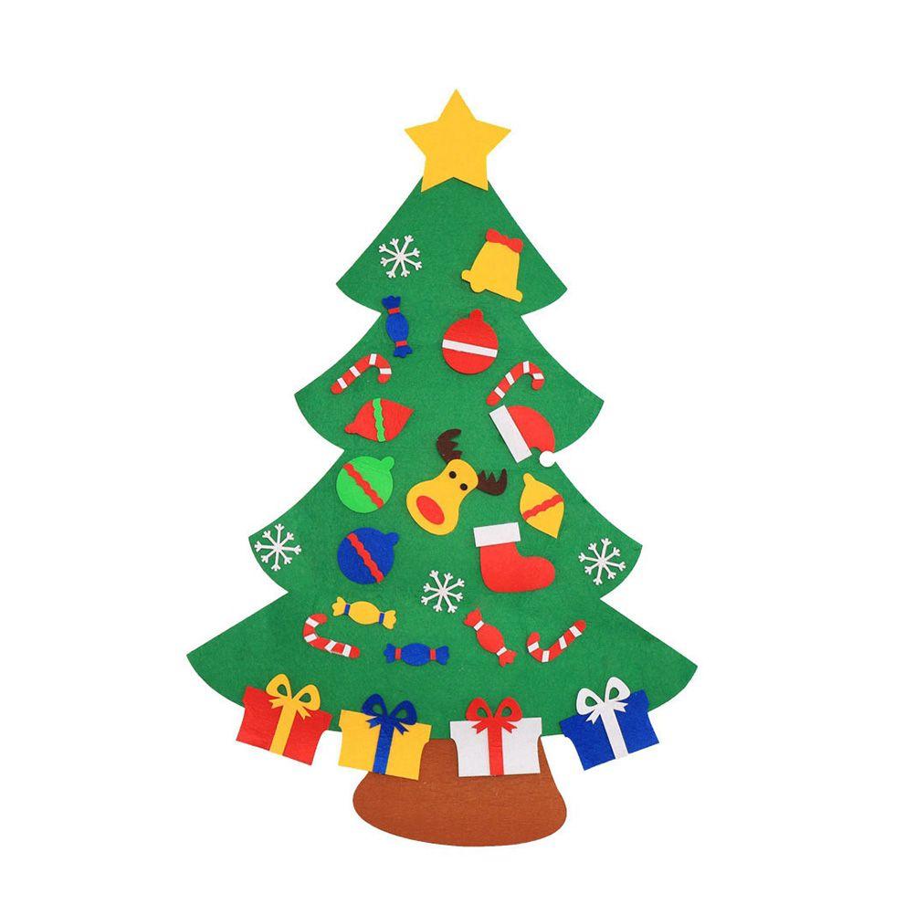 dbea4b9a3ca Compre 1 Conjunto De Árbol De Navidad DIY Creativo Divertido Magia Fieltro  Rompecabezas Decoración Para El Festival De Navidad Fiesta De Juego A   22.04 Del ...
