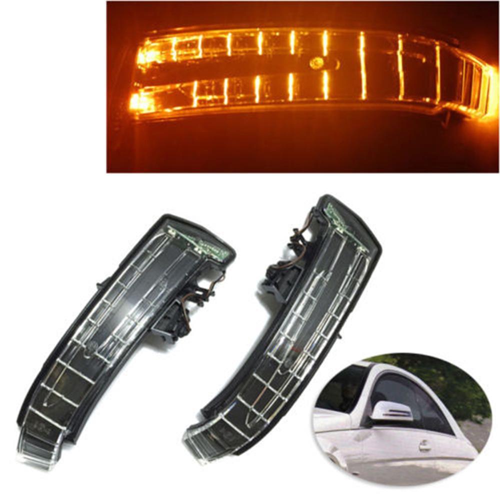 1 Pair Car LED Side Mirror Lights Marker Turn Signal Light lens For  Mercedes W204 W212 W221