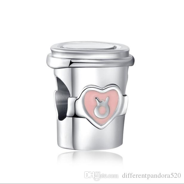 9604d8447 2019 Fit Pandora Charm Bracelet Crown Logo Coffee Cup European Silver Bead  Charms Beads DIY Snake Chain For Women Bangle & Necklace Jewelry From ...