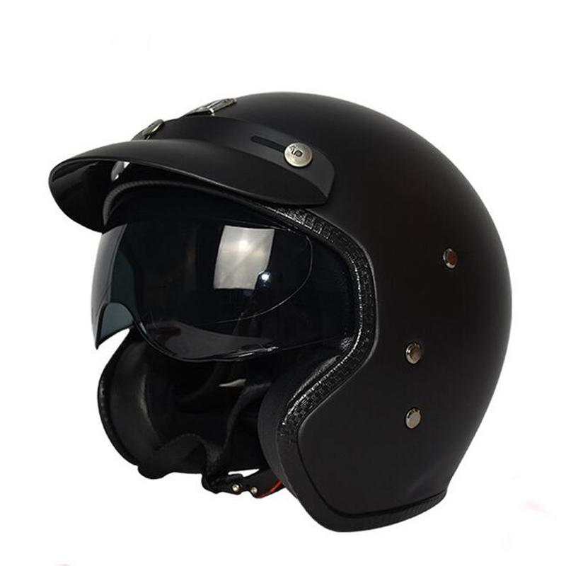 Lightweight Motorcycle Helmet >> Universal Motorcycle Helmet Light Weight Motorcycle Helmet Retro Cold Protection Safe Riding Scooter Headpiece With Visor