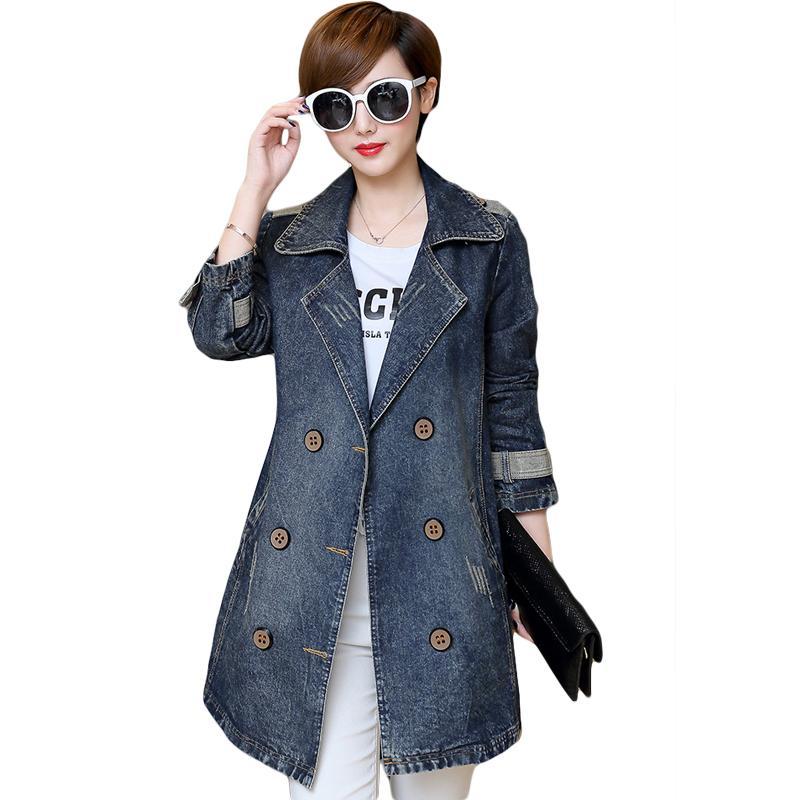 a320431f6e5 2018 New Spring Fashion Oversized Women Denim Jacket Plus Size 5XL ...