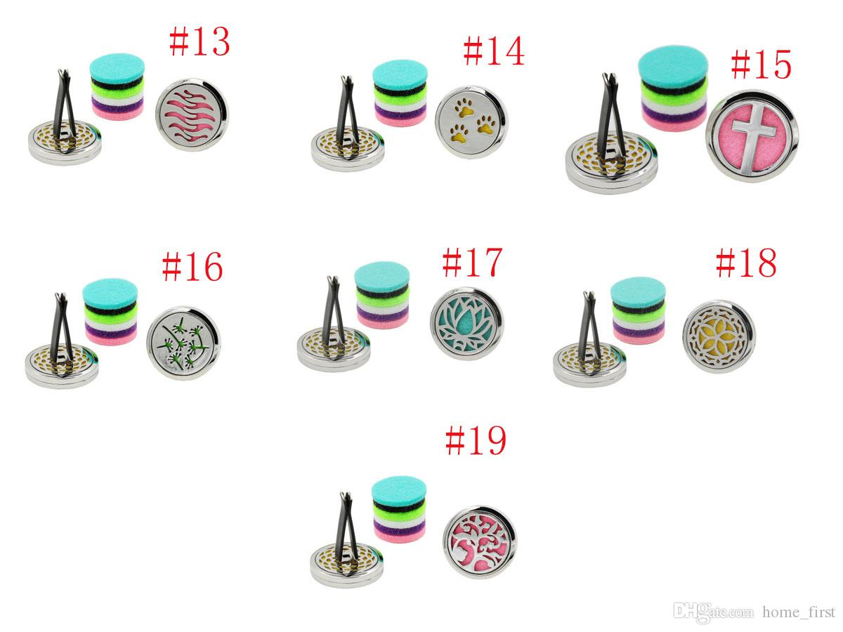 Colorful Creative Stainless Steel Car Air Conditioning Outlet Perfume Aromatherapy Home Essential Oil Diffuser Car Accessories Ornament