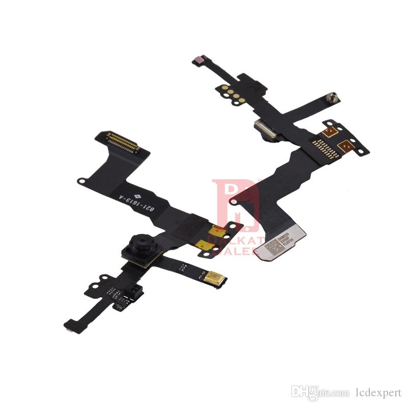 For iPhone 5S Front Camera Home Button Flex Ear Pieces Screw Sets Metal Plate Bezel LCD Display Touch Screen Digitizer Full Complete Parts