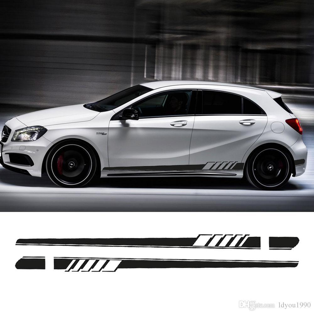 NEW Edition 1 Style Side Skirt Racing Stripe Decal Stickers for Mercedes Benz W176 A Class A180 A200 A250 A45 AMG