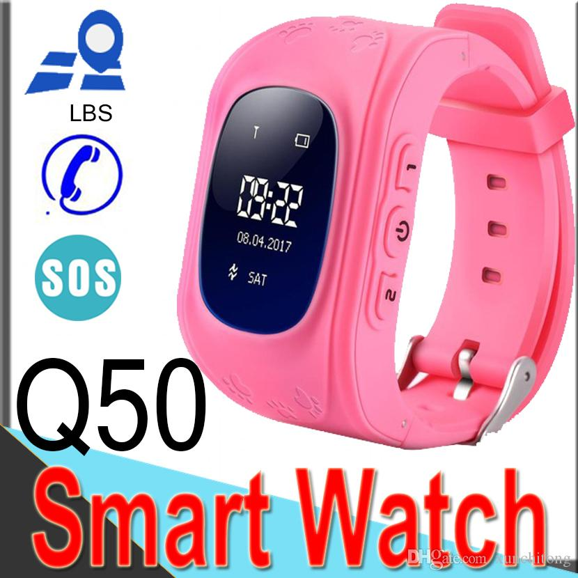 Smart Watch Q50 Children Kid Wristwatch GSM LBS Locator Tracker Anti-Lost Smart watches for Child as Christmas Gift XQ3 Wearable Outdoor
