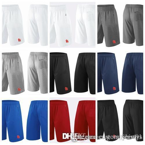 check out 3e017 9712b 2018 Men s St. Louis Cardinals Shorts White Gray Black Navy Blue Red  Franchise Performance Shorts Size S-XXXL Baseball Shorts Jerseys