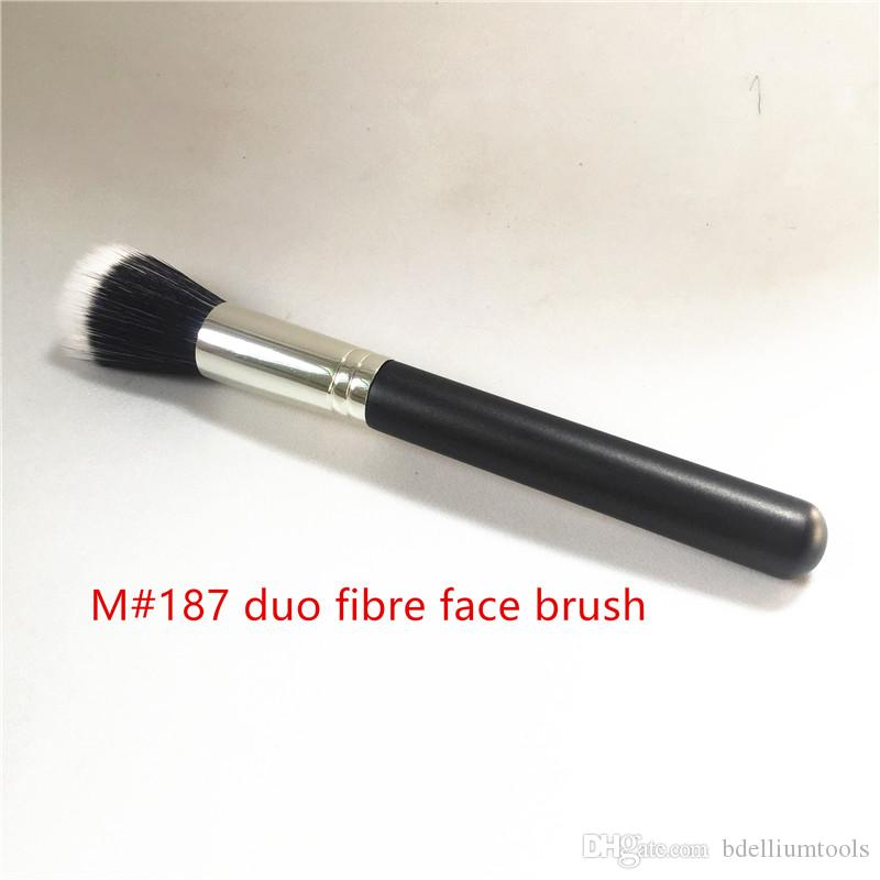 MACJAPAN 187 duo fibre face brush - Multi-purpose lightweight Face Powder Foundation Contour Brush - Beauty Makeup Brushes Blender