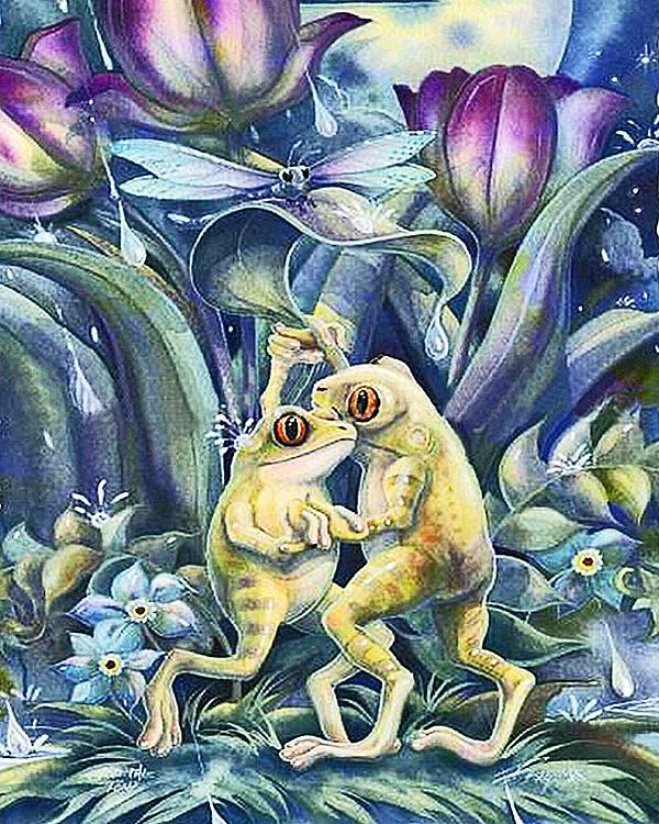 Großhandel A1976 Dancingfrog 20 * 25 5d Diydiamond Stickerei Malerei ...