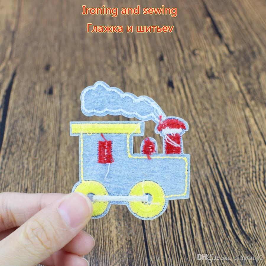 locomotive embroidery patches for clothing iron patch for clothes applique sewing accessories stickers badge on cloth iron on patches