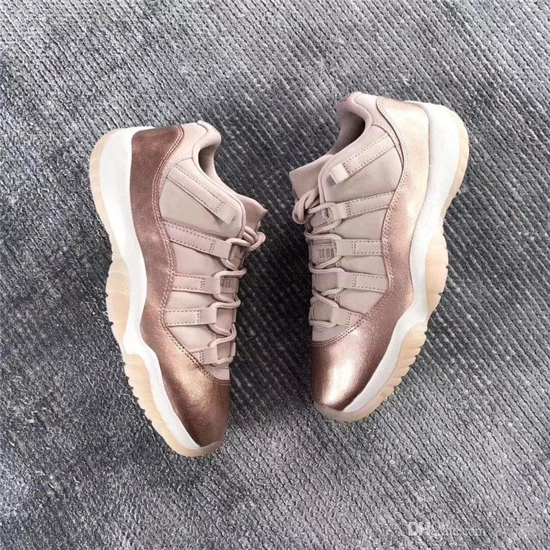 2da3025d9c03 2018 New Arrive 2019 11 Low GS Rose Gold 11S Basketball Women Shoes Sneakers  For Men Authentic Real Carbon Fiber AH7860 105 With Box Shoes For Sale  Baseball ...