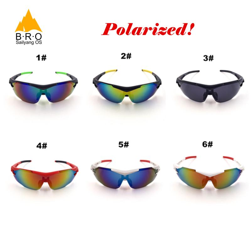 52169a41a6 2017 BRO Polarized Cycling Glasses Men Women Driving Goggles Oculos ...