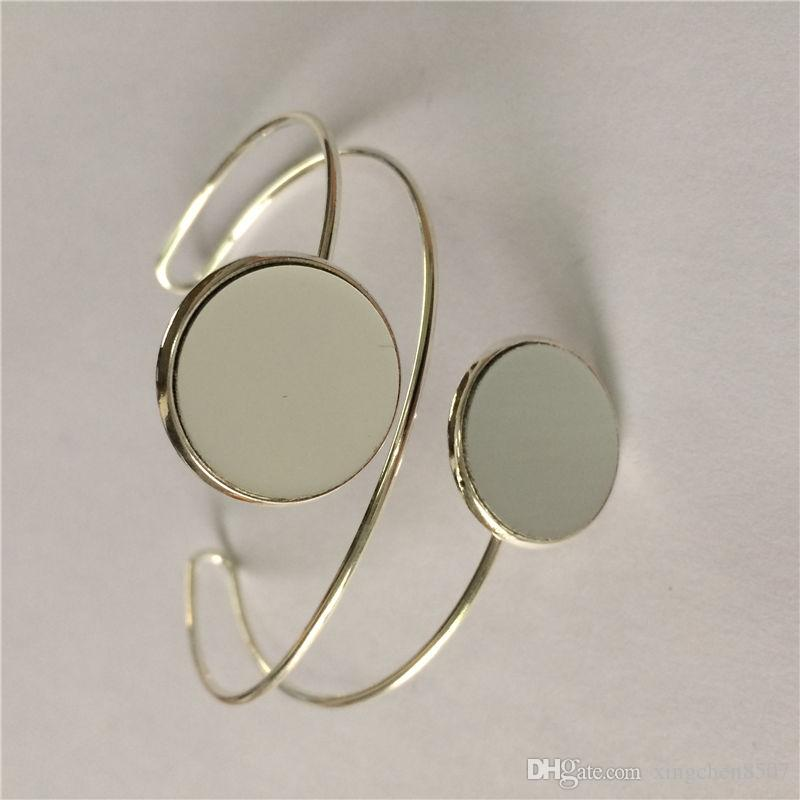 leere Armbänder für Sublimation Mode Armbänder Schmuck für Frauen Thermotransferdruck Verbrauchsmaterial diy Material Großhandel