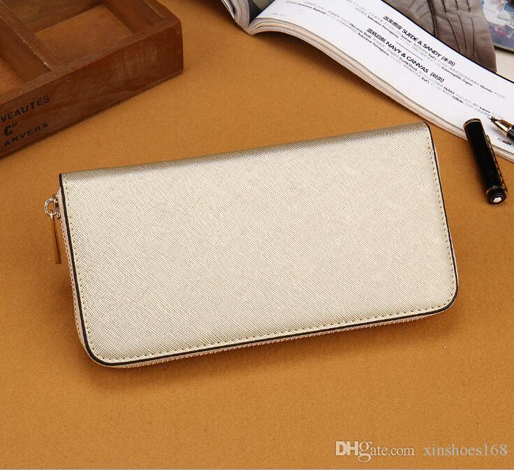 Hot Sale famous brand fashion single zipper cheap luxury designer women pu wallet lady ladies long purse