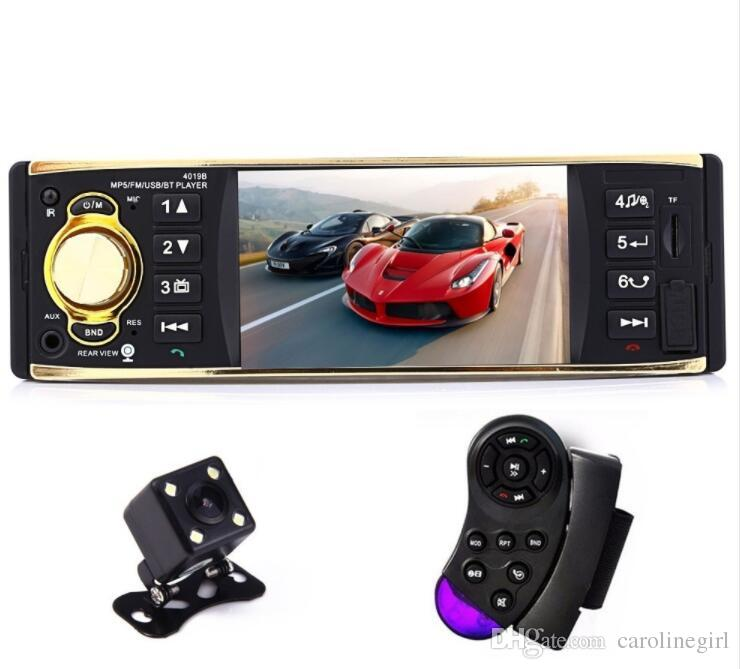Cheap Car Audio Packages >> 4 1 Inch 1 One Din Car Radio Audio Stereo Usb Aux Fm Radio Station Bluetooth With Rearview Camera Remote Control