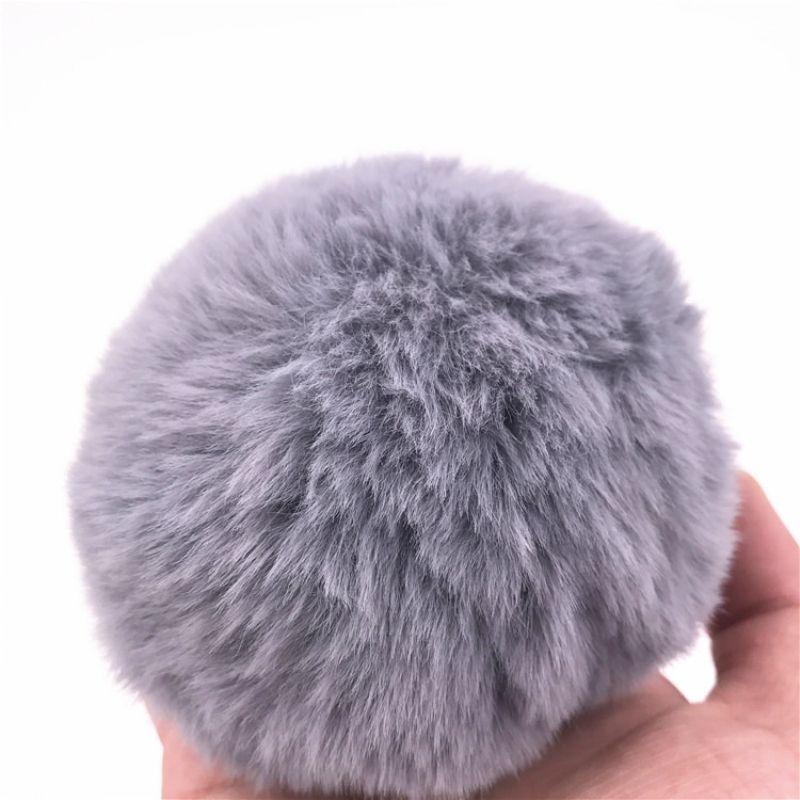 Anal Plug Kaninchen Schwanz Butt Plug Edelstahl Butt Stopper Höschen grau Plüsch Bälle Anus Dilatator Anal Sex Spielzeug Paar H8-1-64F