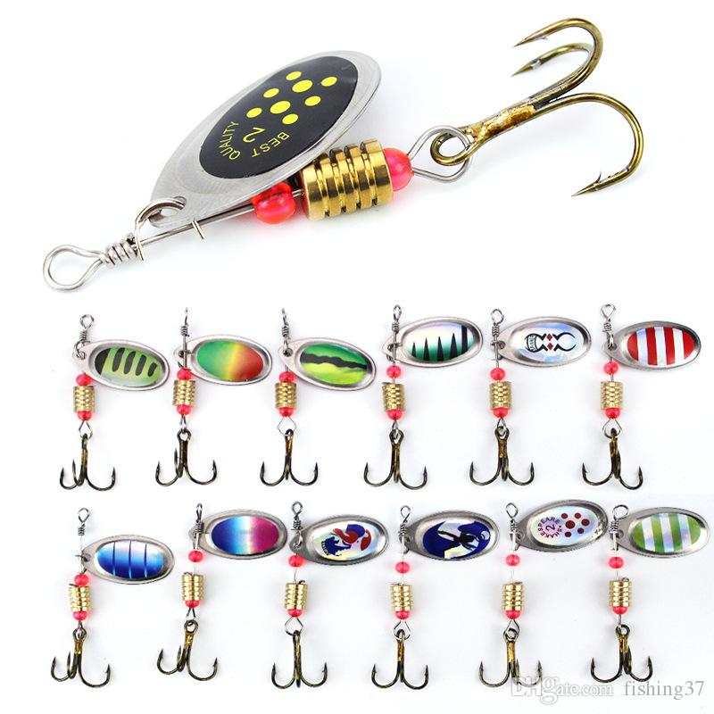 10pcs 6cm 2.5g Spinner Hook Fishing Hooks Metal Baits & Lures Artificial Bait Pesca Fishing Tackle