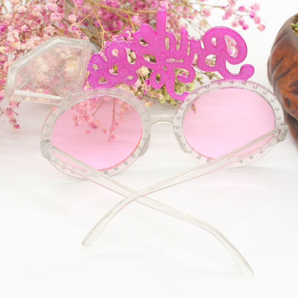 New Bachelorette Hen Party Supplies Bride To Be Glasses Pink Bling ...