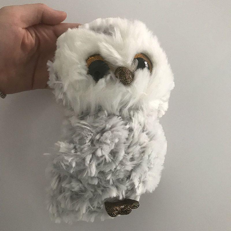 2019 6 15cm Owlette The Gray Owl Plush Regular Soft Big Eyed Stuffed