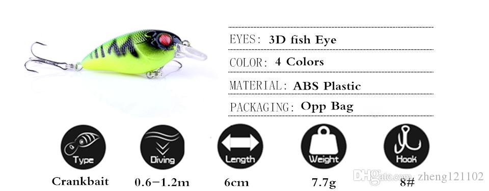 Hot model fishing lures, minnow crank shad 46cm/7.7g, sinking 0.6-1.2m,japan fly fishing accessories