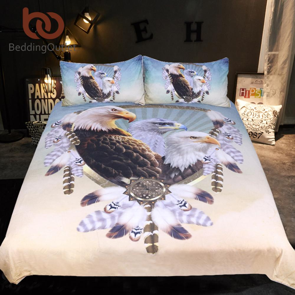 Beddingoutlet Three Eagles Bedding Set Queen Size Feathers