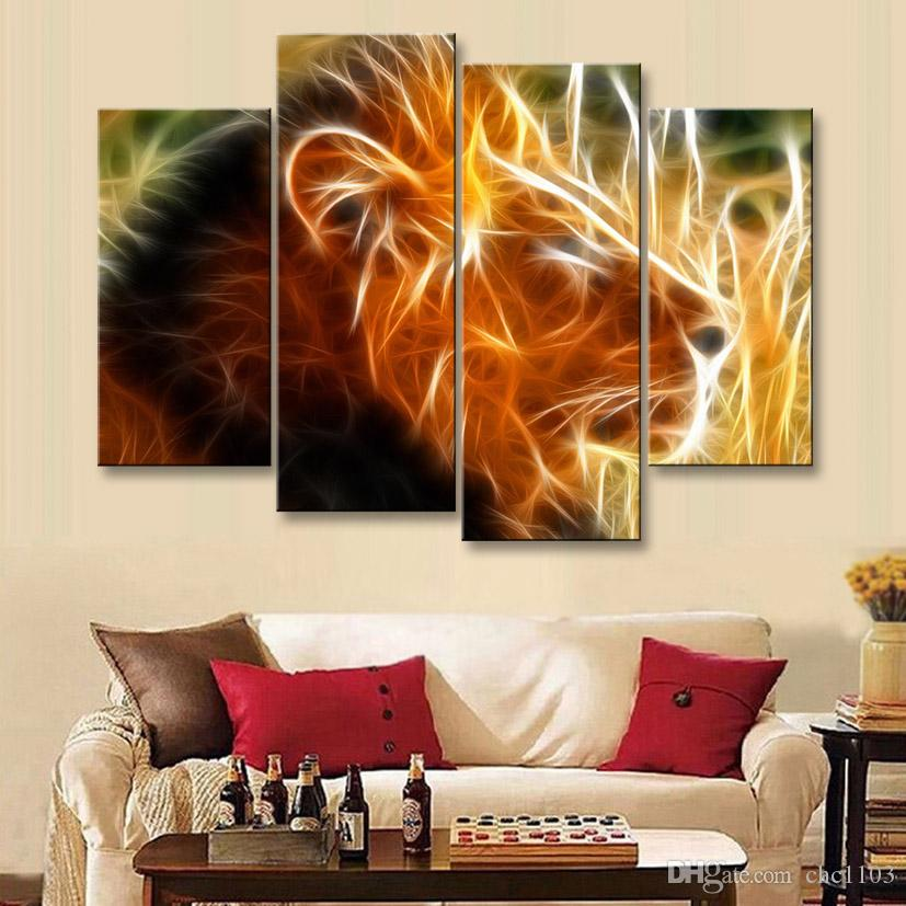 painting & calligraphy print lion canvas poster wall art living room restaurant Bedroom Decorative paintings SZ4-010