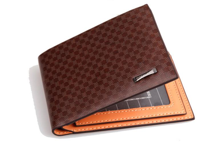 cfb57d6a8680 TCGAD 2018 New Fashion Luxury Brand Plaid Designer Short Men S Wallets  Leather Purse For Male With Card Holder Man Money Bag Leather Wallets For Women  Zip ...