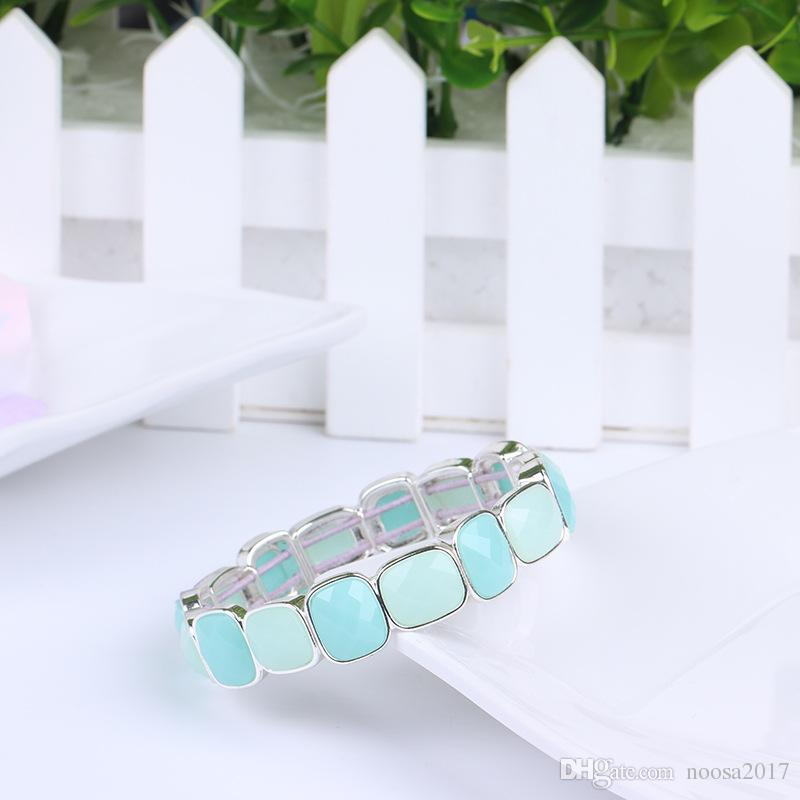 Crystal Luxury Jewelry Bead Natural Stone Jewelry Cheap Anchor Beaded Square resin Bracelets For Men Women Chakra Bracelet