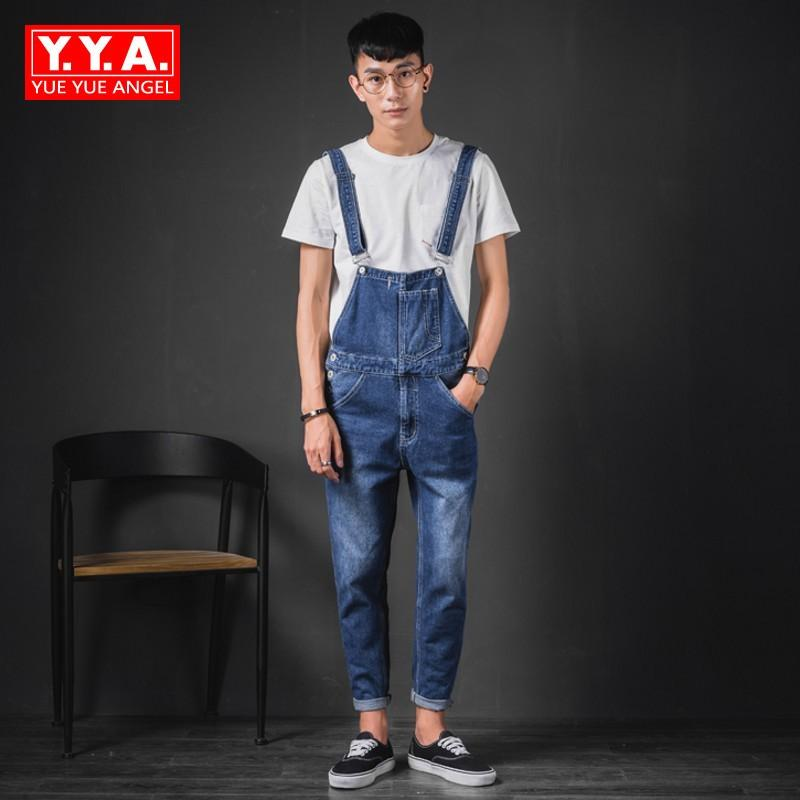 c5d6afe22c49 2019 Jumpsuits Mens 2018 Summer Hot Sale Full Length Korean Fashion Vintage  Male Overalls Casual Punk Style Suspenders Jeans Homme From Lbdapparel
